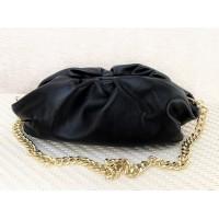 Sieviešu ādas klača soma, melna art. 3593931