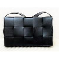 Sieviešu dabīgās ādas plecu soma, melna art. 3794134